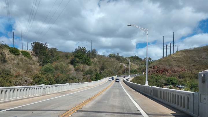 Roosevelt Bridge in Honolulu, HI utilized FasTrac 303 Cement and FasTrac Polymer to repair, restore and widen this historic bridge.