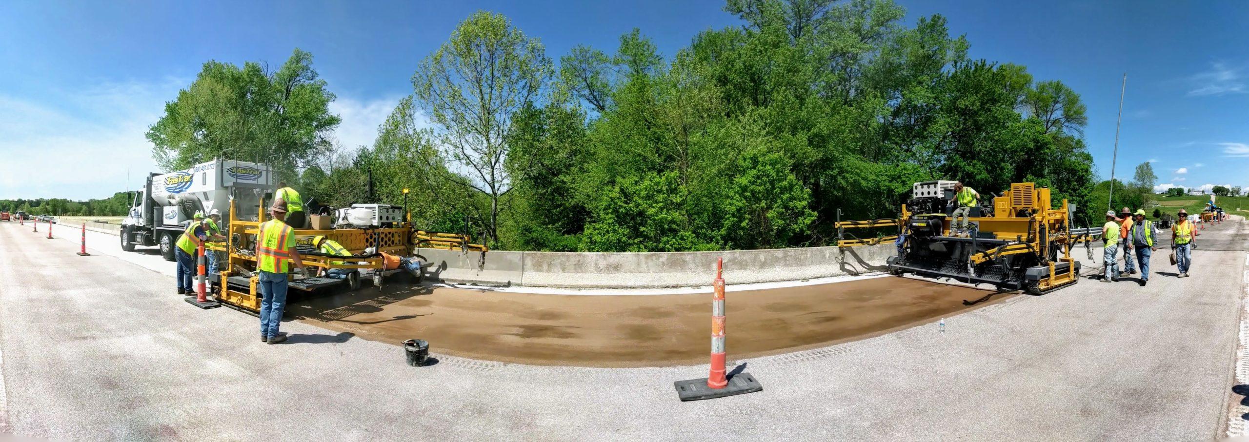 FasTrac Hybrid Polymer Concrete Bridge Deck Overlay