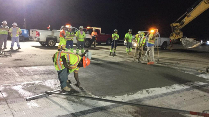 FasTrac 400 Cement being utilized for full depth slab repairs at the Norfolk, VA airport.