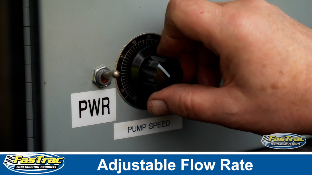 FasTrac Epoxy Polymer Pump System features adjustable flow rate