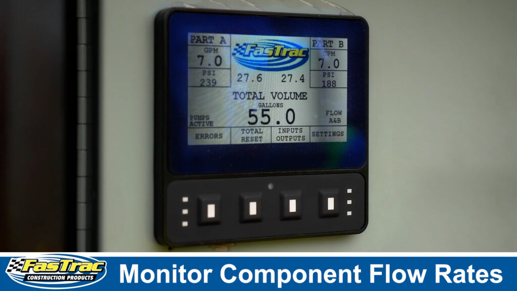 Monitor Component Flow Rates with the FasTrac EP1500 Epoxy Polymer Pump System