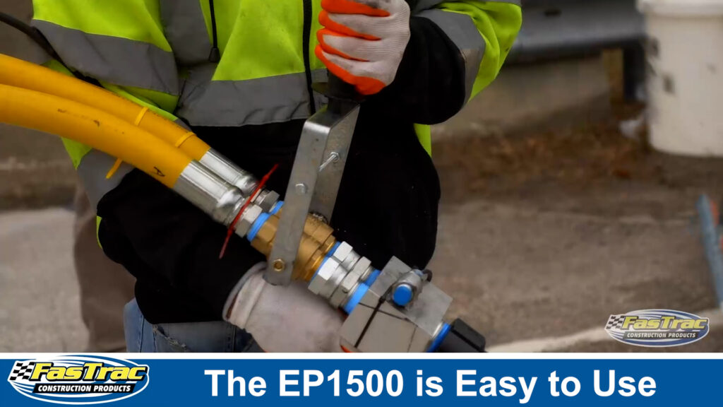 The FasTrac EP1500 Epoxy Pump System is easy to use
