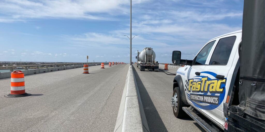 fastrac epoxy polymer pump system bridge deck overlay Texas d